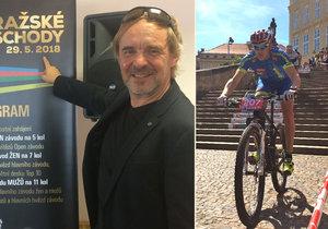 Roman Čermák stál u zrodu idey cyklistického závodu horských kol Pražské schody v roce 1994. Zůstává jí věrný dodnes.