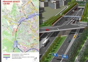 V létě by měla začít první etapa stavby velkého městského okruhu v úseku Žabovřeská. Stavba za takřka půl miliardy se bude týkat části od Dobrovského tunelu přes mosty u Kníničské ulice po vyústění tramvajového tunelu na Žabovřeské.