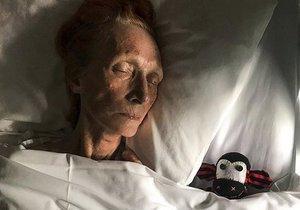 Australská herečka Cornelia Frances na smrtelné posteli