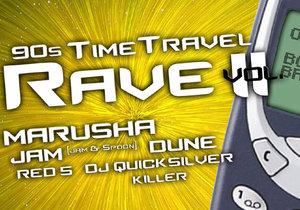 90s Time Travel Rave vol. II se odehraje opět v brněnském Bobycentru.