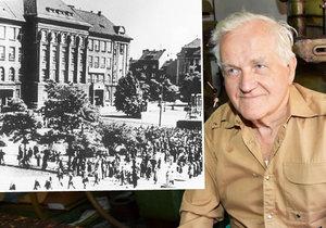 Vzpoura v Plzni proti reformě. Pamětník vzpomíná na akci u Masarykovy sochy: Smyčku navlékal Větrovec