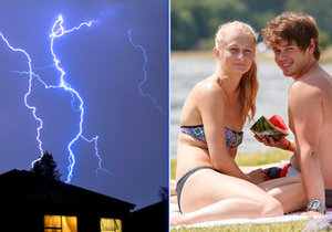Vedro střídají bouřky