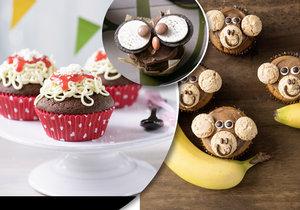 Všechny děti mají svátek, upečte jim rozpustilé muffinky.