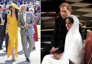 Proč byl Clooney s manželkou na královské svatbě? Amal zaučovala nevěstu Meghan!