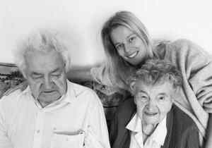 Helena Houdová s prarodiči