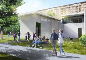 Vizualizace nového komunitního centra na Ládví.