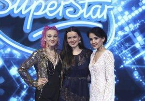 SuperStar - finálová trojka (Tereza, Karmen, Eliška - vpravo)