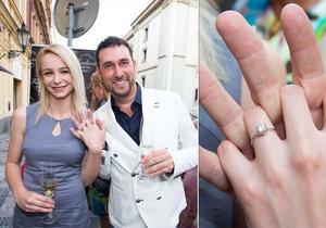 Domenico Martucci se zasnoubil s mladou přítelkyní Nikol Vrbovou.