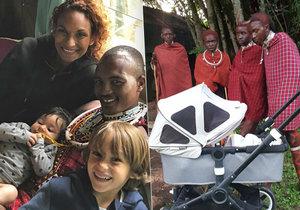 Leila se vydala mezi Masaje. Ti byli překvapení kočárkem pro děti.