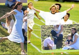 Královský tělocvik? Princezna Charlotte se stavěla na hlavu, Kate během připomněla Dianu (†36)!
