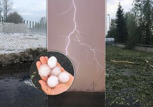 Bouřka se prohnala celým Českem