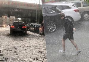 Přívalové deště sužují Česko.