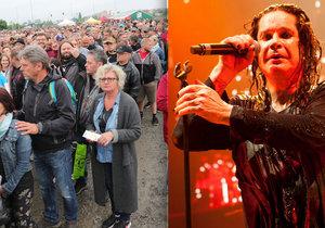 Ozzy Osbourne vystupoval v Praze, koncert provázely dlouhé fronty a bahno.