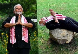 Indický premiér a jeho cvičební video se stali hitem internetu.