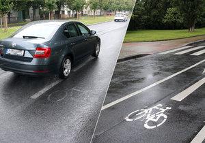 Podivná cyklostezka: Podle značek má pokračovat přes Patočkovu ulici, ale... Po 360 metrech končí!