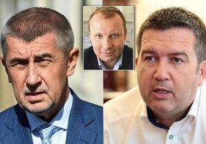 Andrej Babiš (ANO) po schůzce s Janem Hamáčkem (ČSSD): Poche měl problémy, nechci to posuzovat.