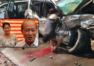 Kambodžský princ se zranil při nehodě, jeho žena nepřežila