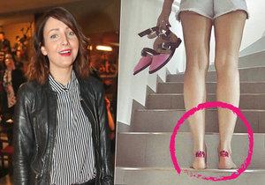 Nové botky pěkně potrápily Veroniku  Arichtevu.