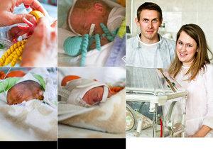 V motolské nemocnici se Heleně a Josefovi narodila čtyřčata.