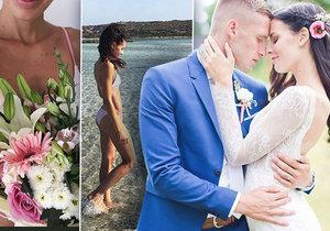 Tereza se za Pavla Kadeřábka provdala před rokem.