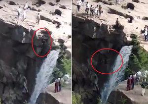 Muž chtěl pořídit fotku vodopádů: Spadl z výšky 50 metrů do řeky!