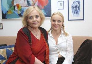 Gabriela Vránová se sestrou Miriam