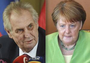Prezident Miloš Zeman kritizuje německou kancléřku Angelu Merkelovou za její výrok o o odsunu Němců po válce