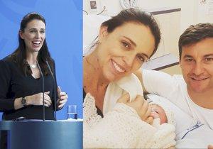 """""""Je to holka!"""" Novozélandská premiérka porodila, její moderátor byl u toho"""