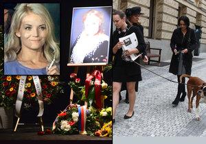 Dagmar vzala na pohřeb i svou boxerku