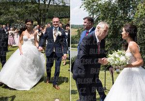 Hradní protokolář Vladimír Kruliš se oženil. Jeho šéf, prezident Miloš Zeman, mu na svatbu přiletěl vrtulníkem.