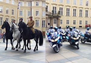 Přehlídka na Pražském hradě při příležitosti 100 let od ceremoniálu legionářů ve francouzském Darney