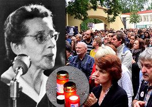 Symbol boje proti komunismu: Lidé uctili památku popravené Milady Horákové na místě, kde zemřela