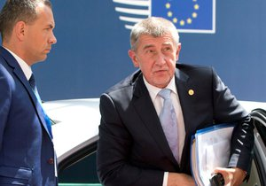 Premiér Andrej Babiš (ANO) na summitu EU v Bruselu (28. 6. 2018)