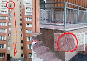 V Ostravě vyhodil z okna muž devítiletou holčičku a pak vyskočil za ní. Nepřežili.