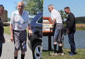 Miloš Zeman na dovolené.