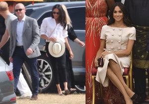Vévodkyně Meghan fandila Harrymu na pólu! Opět šokovala svým stylem.