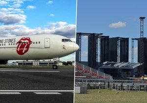 Rolling Stones přiletěli do Prahy.