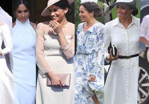 Jakými outfity Meghan oslnila od svatby s Harrym? Volba garderóby rozhodně budí velké emoce.