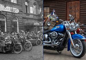 V Praze budou mít sraz motorkáři Harley-Davidson, už v minulosti tyto stroje řídily také ženy.