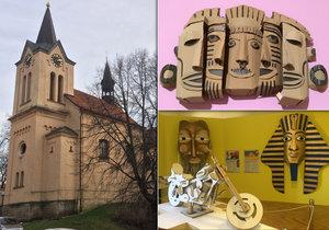 Na Chvalském zámku je nyní k vidění letní prázdninová výstava věnovaná papírovým modelům nejrůznějších velikostí.