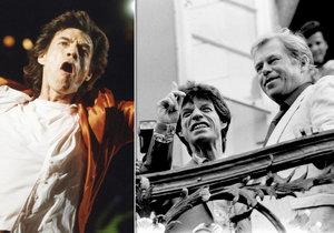 Rolling Stones v roce 1990 v Česku