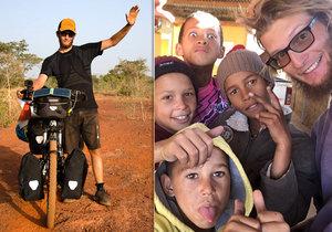 Tadeáš Šíma projel na kole celou Afriku od severu až na jih.