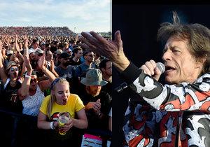Rolling Stones začali vystoupení za bouřlivého jásotu fanoušků.