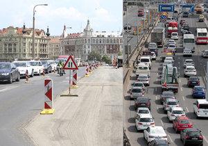Doprava v Praze na začátku týdne kolabovala, podle TSK se bude situace zlepšovat.