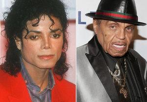 Michael Jackson a jeho otec Joe Jackson