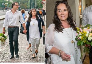 Hana Gregorová vedle přítele Ondřeje Koptíka září znovu štěstím.