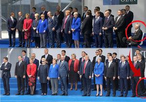 Focení lídrů NATO před summitem v Bruselu.