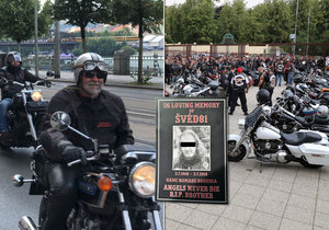 Na pohřeb legendárního motorkáře Hells Angels přijelo na 500 motorkářů.