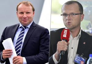 Podle místopředsedy ČSSD Netolického (vpravo) by stana měla trvat na Pochem coby ministrovi zahraničí.
