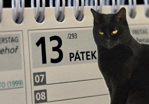 Bojí se Češi pátku třináctého? Větší strach mají z černých koček!